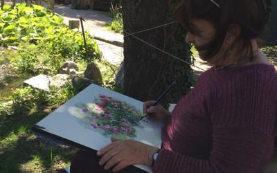 Rocca di Angera 2016. Il roseto nel giardino medioevale