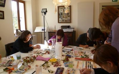 Dipingere le bacche a Seravella