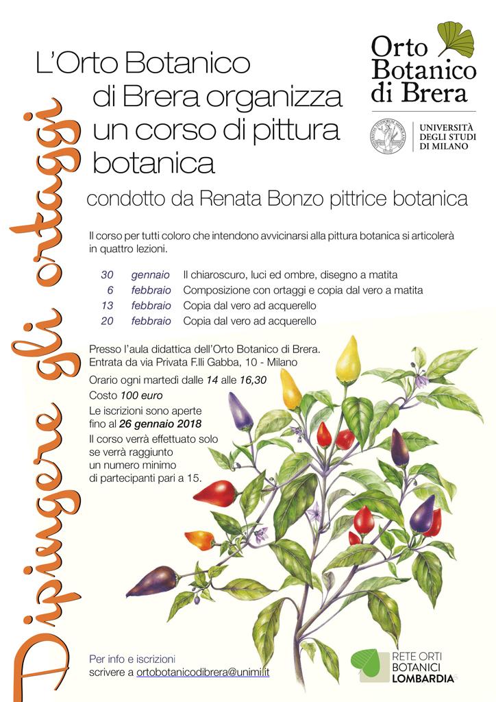 Corsi pittura botanica Milano