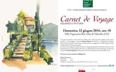 Locandina Carnet de Voyage, con il FAI  a Villa Fogazzaro Roi 2016.