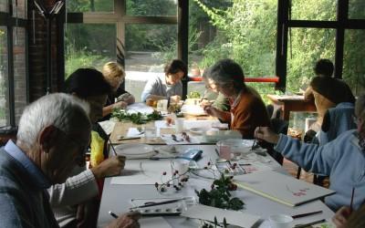 Dipingere le bacche all'Orto Botanico di Brera (MI)