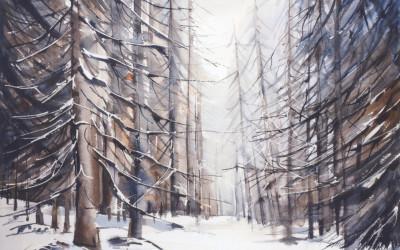 Neve sui larici