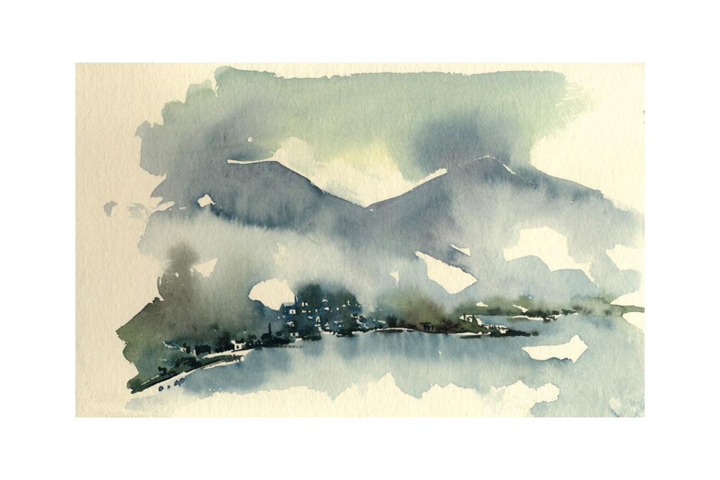 nuvole al lago